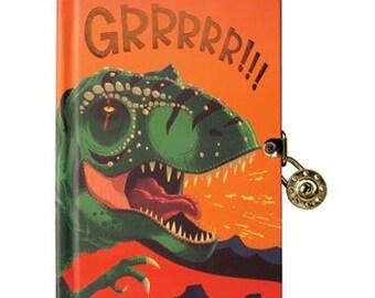 Dinosaur Lock & Key Diary