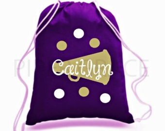 Cheerleader Drawstring Bag, Cheerleader Gifts, Cheerleading Gifts, Personalized Cheerleading Gifts, Cheer Team Gifts, Cheer Gift Ideas
