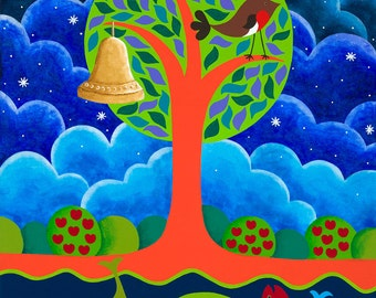 A Tree, A Bird, A Bell and A Fish