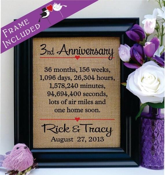 3rd Wedding Anniversary Gift: 3rd Anniversary 3rd Wedding Anniversary Gift 3rd Anniversary