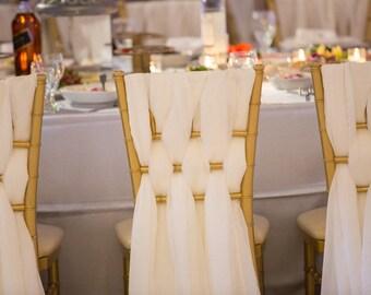 Chiffon Chiavari Chair Sash | Wedding Chair Sashes