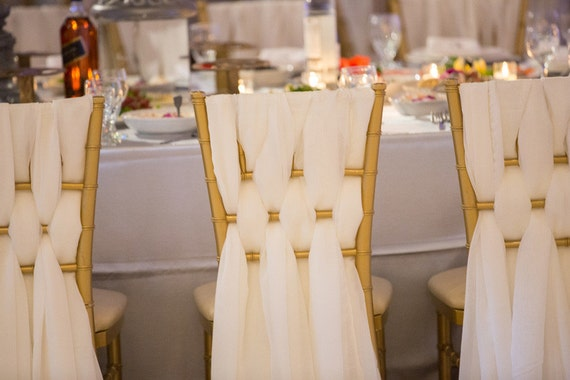 Chiffon Chiavari Chair Sash Wedding Chair Sashes By Golinen