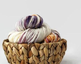 Hand dyed DK yarn superwash merino/nylon - Marble