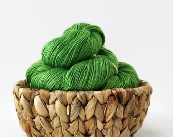 Hand dyed lace yarn superwash merino/silk - Shamrocks