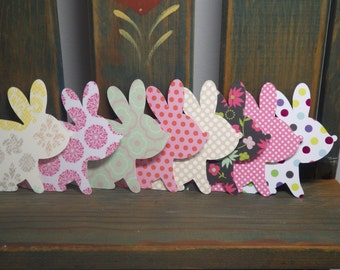 Designer Bunny Die Cuts, Embellishments, scrapbooking, card making, Crafts, decorations, Parties, Tags, School, Easter, Spring VTC-DP04