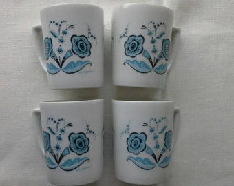 Set of Four Blue Berggren Cups God Jul Sweden