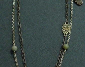 Owl in a Birdhouse Necklace