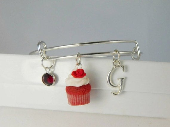 Custom charm bracelet scented jewelry red velvet cupcakes for How to make scented jewelry