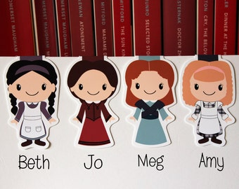 Little Women Magnetic Bookmarks Individuals and Set | Louisa May Alcott