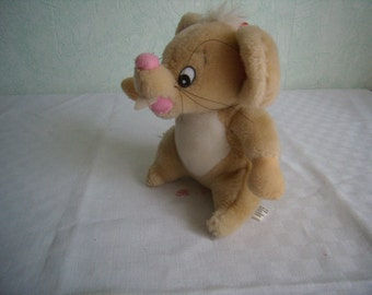 Toy plush mouse plush bear vintage plush collection