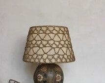 Stoneware table lamp Art Deco CHARLES CATTEAU, KERAMIS ceramic  La Louvière Belgium Boch frères pottery / Antiques Design 20th / Holy10
