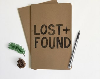 Journal • Travel Journal • Lost + Found • Hand-Lettered