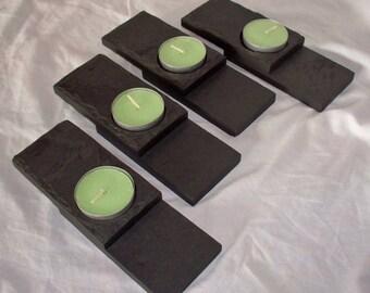Candle Holder, Slate, Black, Tea Light
