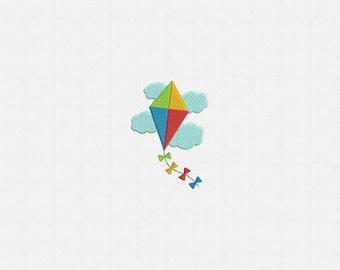Mini Kite Machine Embroidery Designs - 2 sizes
