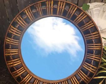 Rattan Circle Mirror