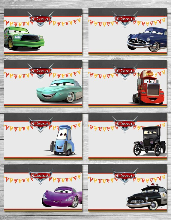 Disney Cars Food Tents Chalkboard Set 2 - Cars Food Labels - Disney Cars Printables - Cars Party Favor - Cars Happy Birthday - Cars Birthday  sc 1 st  Etsy & Disney Cars Food Tents Chalkboard Set 2 Cars Food Labels