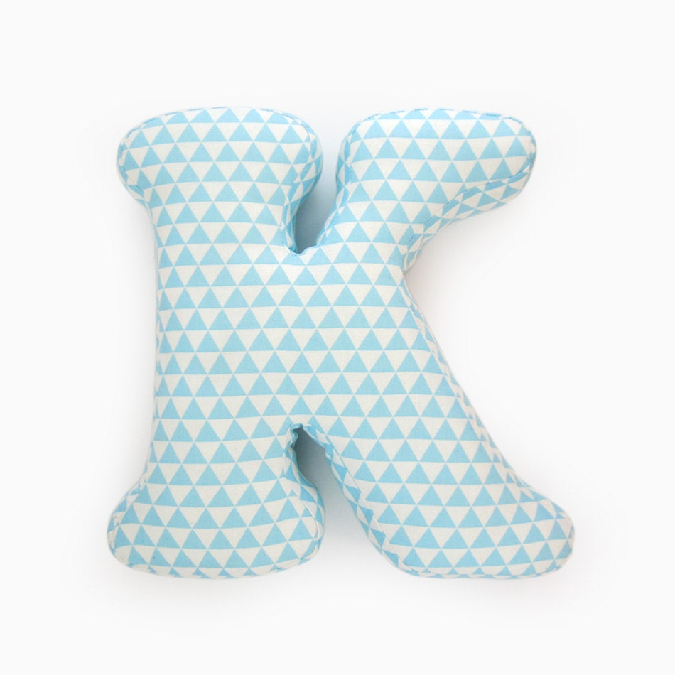 alphabet pillow letter k alphabet pillows initials letter With letter pillows