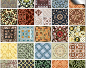 Pack Of Various Traditional Mosaic Tile Stickers Ntp 06 Kitchen