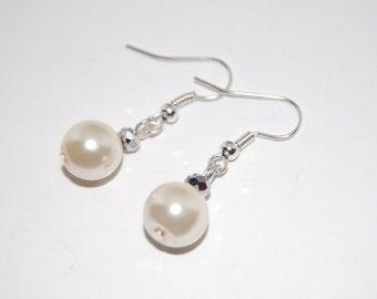 Glass Pear Earrings, Beaded Earrings,Drop Earrings ,Dangle Earings ,Boho Jewelry ,Gift For Her