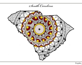 adult coloring page south carolina state map usa map coloring zentangle coloring pages - Zentangle Coloring Pages For Adults