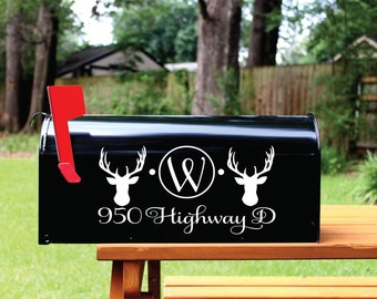 Deer Mailbox Decal Etsy - Custom vinyl decals for mailbox