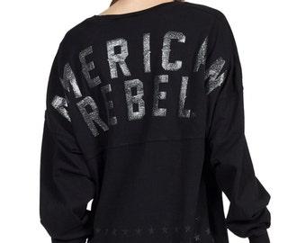 American Rebel - Women's Long Sleeve V-Neck Spirit Jersey®  (J159035166D3)