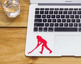 SUMMER SALE! Field Hockey Sticker girl field hockey Car Laptop Vinyl Decal Sticker