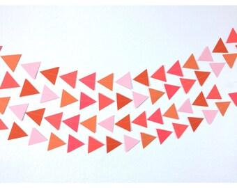 Triangle Garland, Flamingo Triangle Garland, Paper Garalnd