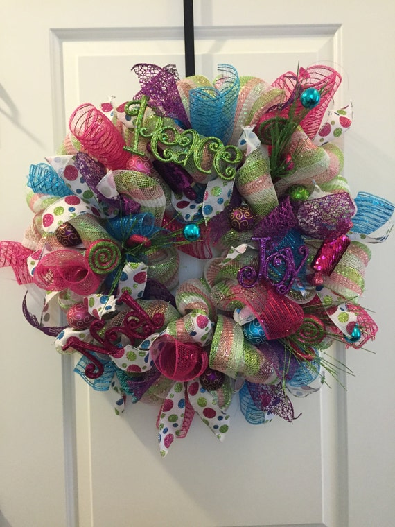 Candy Colors Christmas Wreath