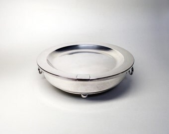 French Vintage Silver Plate Dish Warmer - Chafing Dish