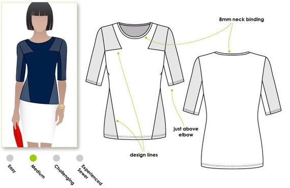 how to choose the correct sewing pattern size
