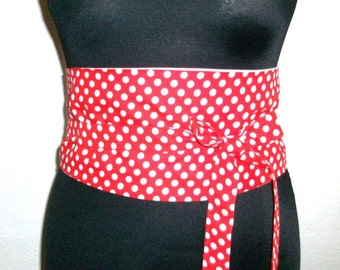Waist belt to turn-Polka dots