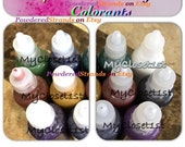15 ml Candle Color Samples Black Blue Green Burgundy Orange Purple Brown Off White Dye for Wax and Gel