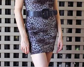 Body Con Leopard Dress