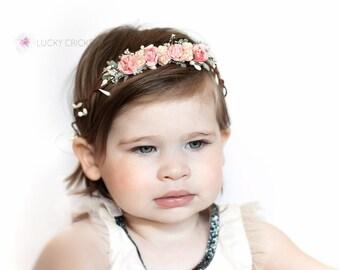 Baby Flower Crown, Baby Flower Halo, Newborn Flower Crown, Newborn Flower Halo, Newborn Flower Headband, Baby Halo, Woodland Crown