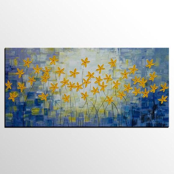 Arte abstracto, arte de la pared, gran pintura, pintura, arte de salón, pintura al óleo, pintura de la flor, pintura Original, lona arte abstracto