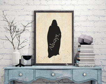 Severus Snape Always, Professor Snape, Harry Potter always, Severus Snape art, Severus Snape Harry Potter, Severus Snape old paper prints