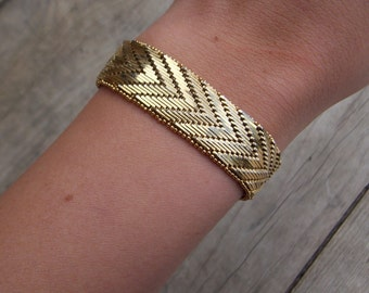 Vintage NAPIER Gold Bracelet