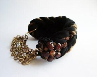Unique Bracelet for women, Fabric Bracelet, Braided Bracelet, Hand made Bracelet, Valentines Gifts, Bracelet African Jewelry Fabric Braided