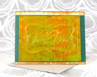 SALE!!! 3 Thank You Card Assortment, 3-D Greeting Cards