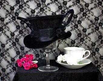 Gothic Lolita/Alice in Wonderland/Dark Rabbit - Mini Top Hat