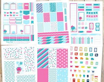 Snow Cute Printable Planner Stickers - 6 Full Pages!  (Made to fit The Happy Planner by MAMBI - Create 365)
