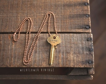 Loved Key Necklace | arrow, anniversary, fiance gift