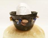 Prayer Pot, Meditation, Pinch Pot, Prayer Box, Hope, Spiritual, Eclectic, Inspirational, Handmade, Ceramic, Prayer Box, Prayer