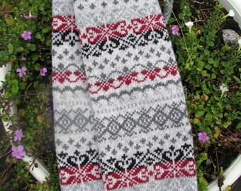 Leg Warmers knit socks wool socks  boot cuffs Norwegian Christmas socks warm socks leggings winter socks girl thigh high socksа
