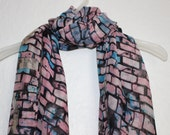 Urban Pink Scarf Anchor Scarf Womens Gift Scarves Spring Summer Accessories For Her Pink Accessories Casual Wear Graphical Pink