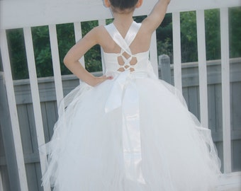 flower girl dress, white tutu dress, ivory tutu dress, flower girl dress, white flower girl dress, ivory flower girl dress, tutu dresses,