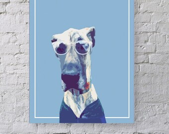 CUSTOM Stylized Pet Portrait Wall Art - Add Your Own Pet's Photo!