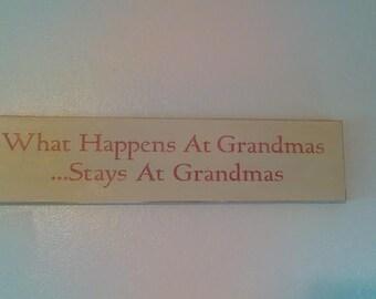 What happens at Grandmas
