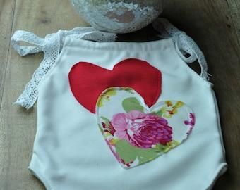 Valentines set for a newborn baby girl